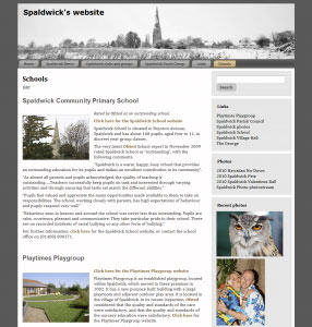 Image of new Spaldwick website