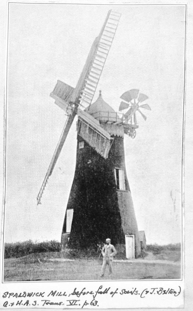 John Belton in front of the Spaldwick Windmill