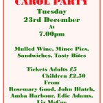 Carol Party on Tuesday 23rd December