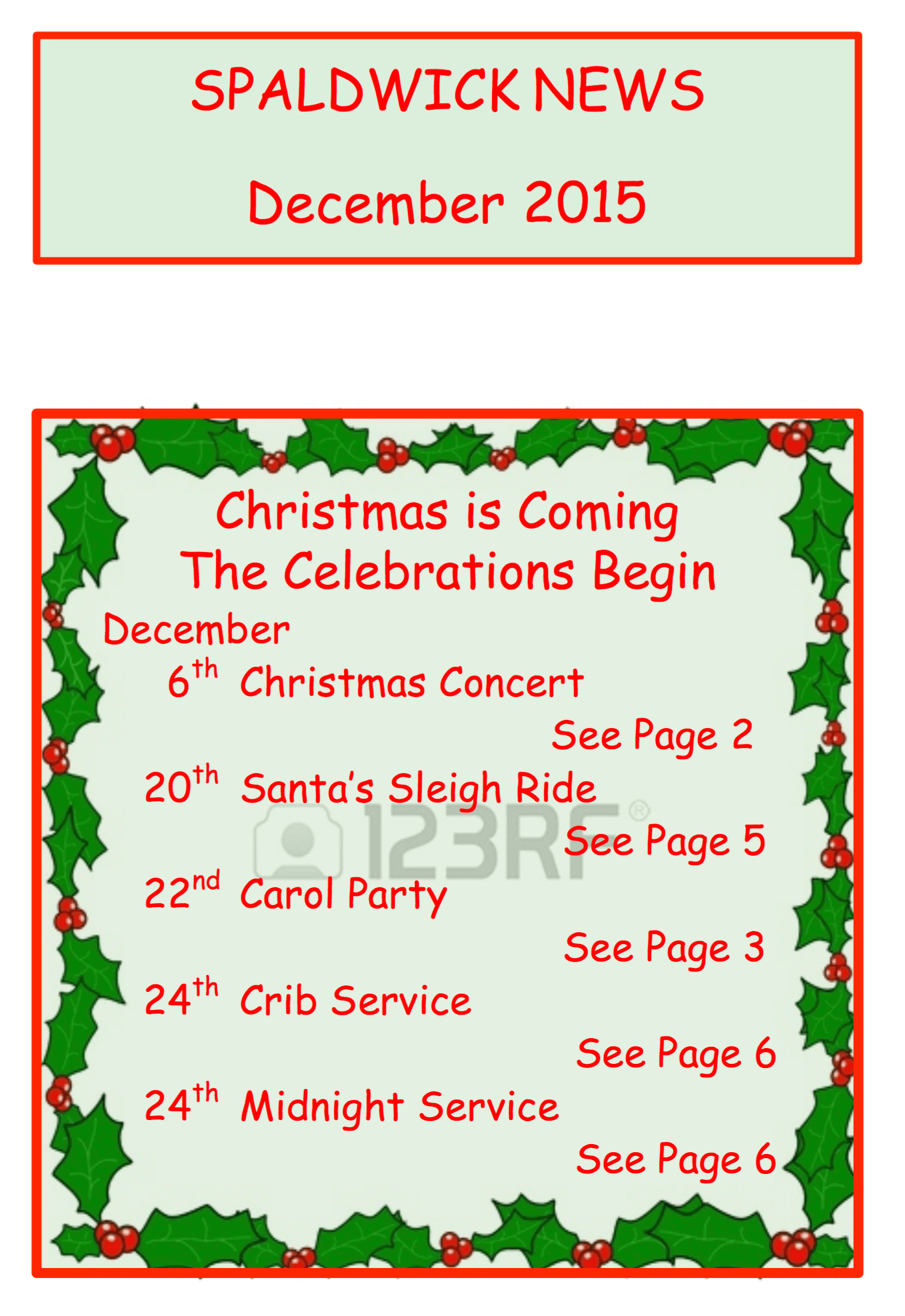 Christmas events in Spaldwick