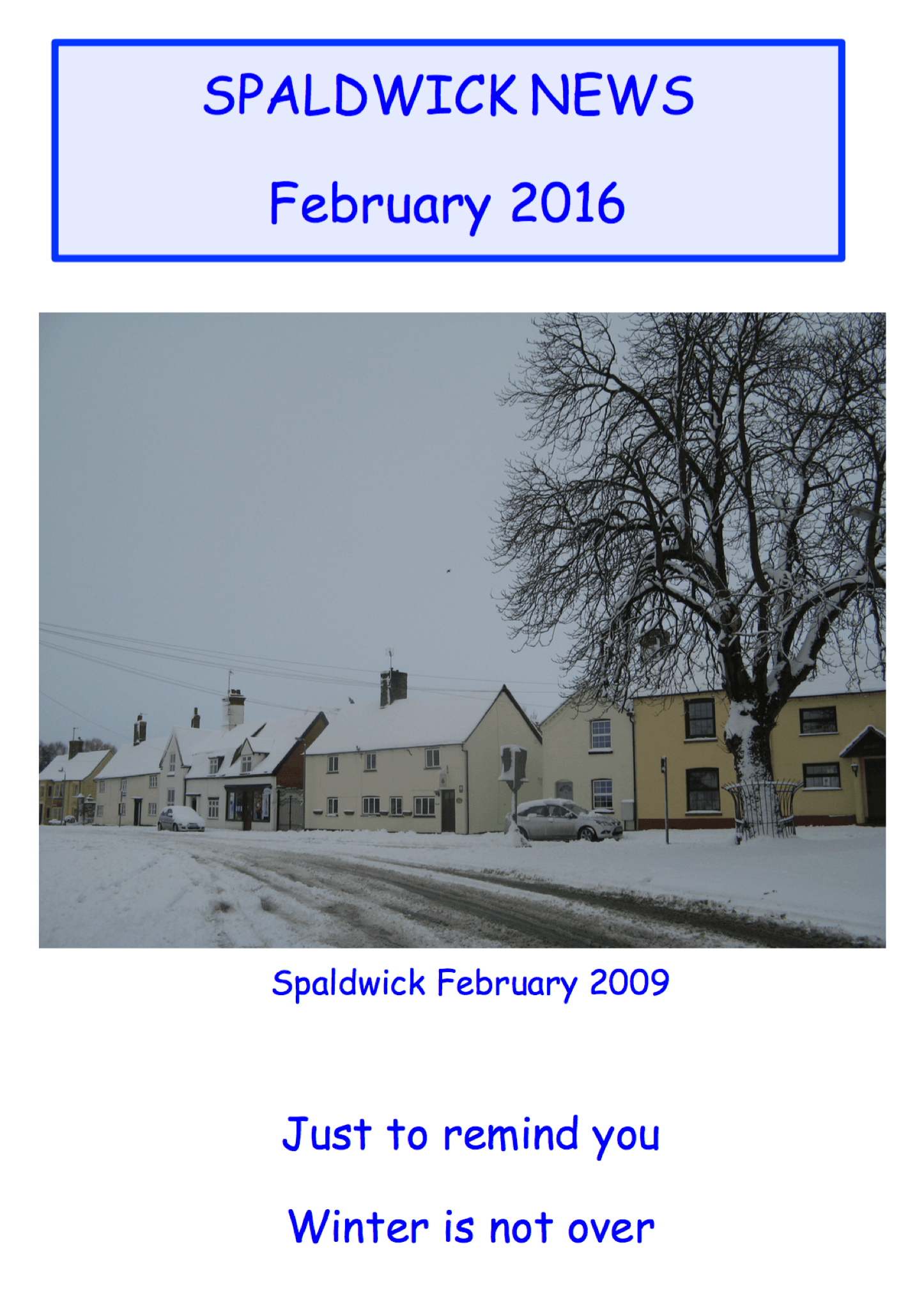 Spaldwick News