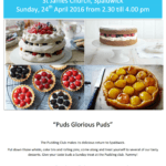 Pudding Club on Sunday 24th April 2016