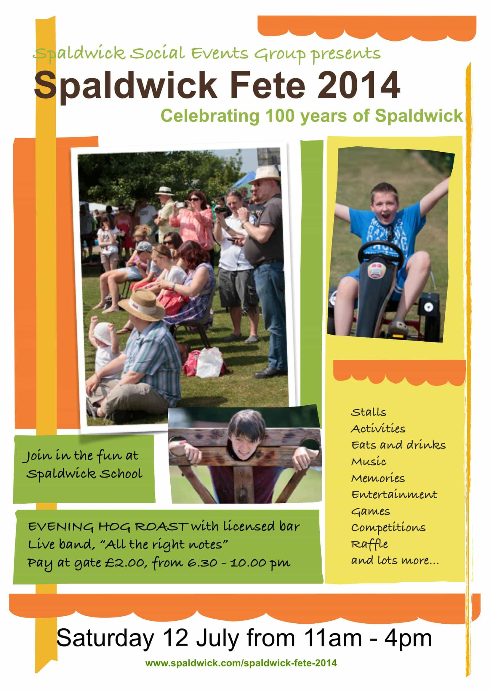 Poster for the 2014 Spaldwick Fete