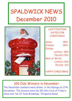 Image of Spaldwick News magazine for December 2010