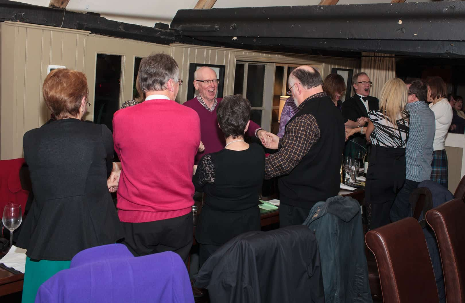 Singing at Burns Night