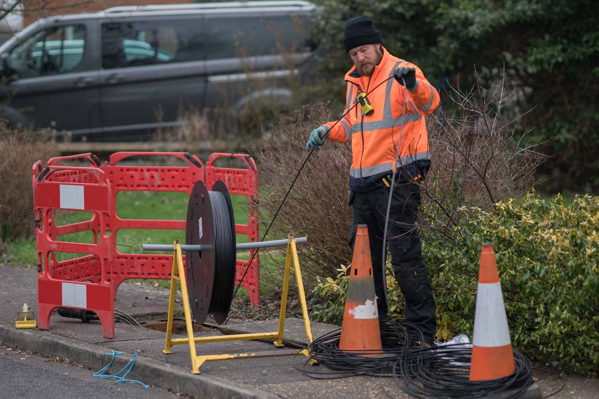 FTTP cable laying