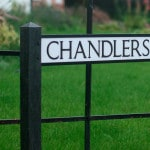 Spaldwick Sign Commemorates the Chandler Brothers