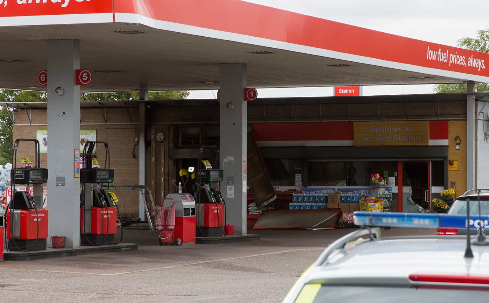 Fire At Spaldwick Service Station After Gang Robbery Spaldwick Website