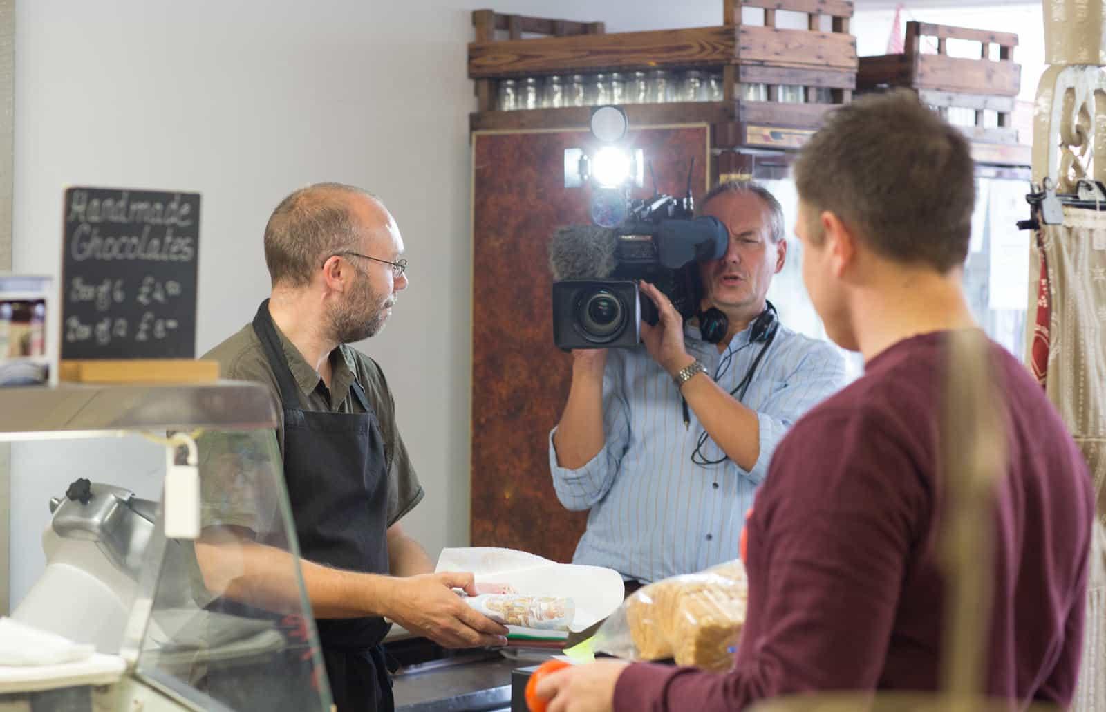 Darrell being filmed