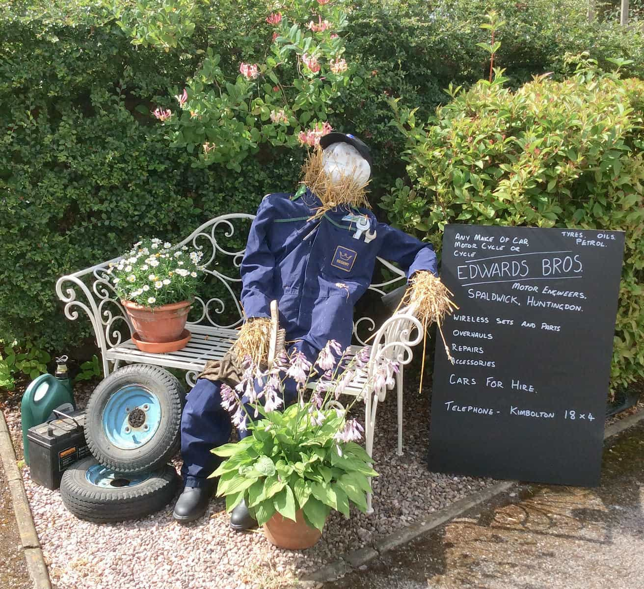 Edwards scarecrow in Spaldwick