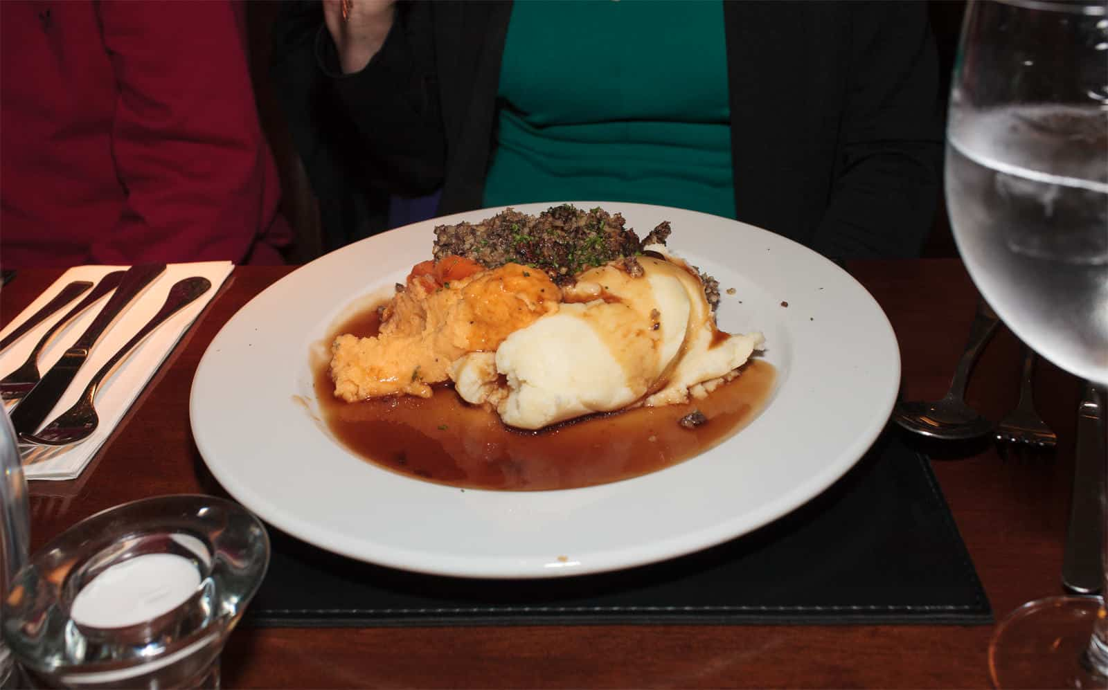 Haggis served at The George
