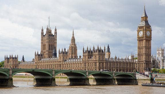 Photo of the Houses of Parliament in London