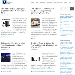 Increase Broadband Speed website