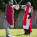 jousting knights in spaldwick