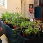 Gardening Club stall in Spaldwick Church