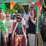 Queen Olivia opens the Spaldwick Fete