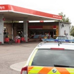 Fire at Spaldwick Service Station After Gang Robbery