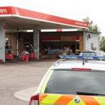 Robbery ar Spaldwick Service Station