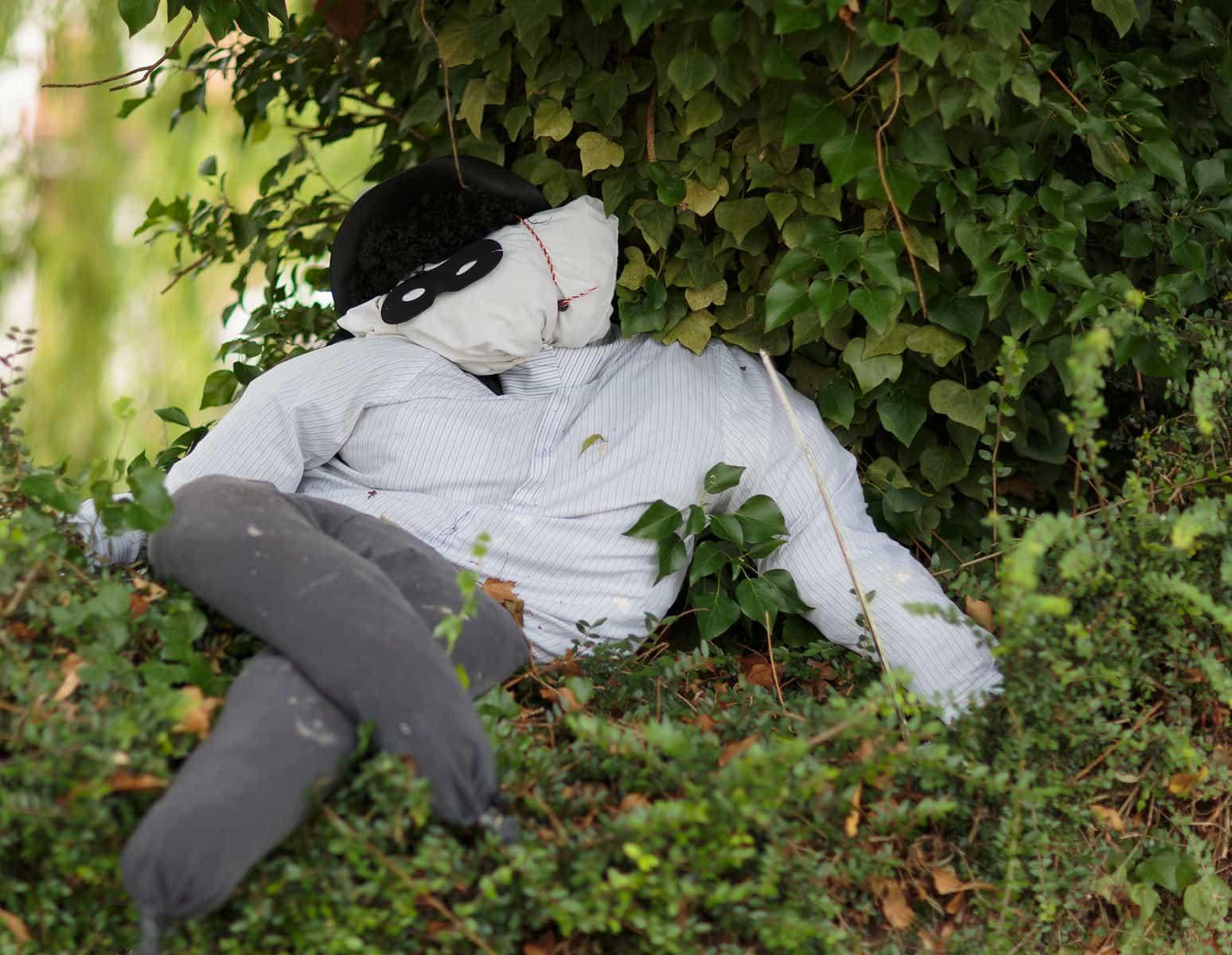 Cat burglar scarecrow
