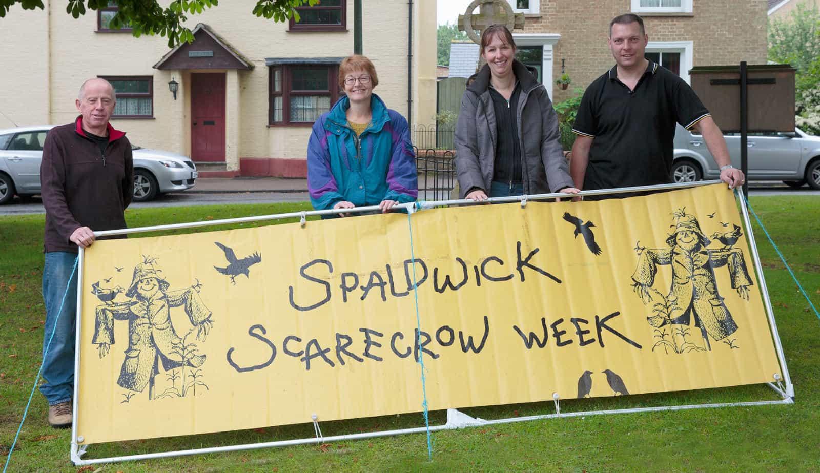 Spaldwick scarecrow advertising