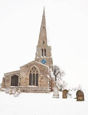 spaldwick-church-snow