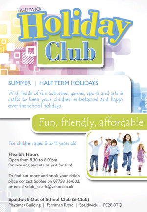 Spaldwick Holiday Club poster