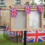 Photo of the Spaldwick Parish Council notice board