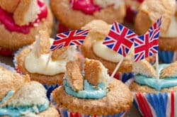 Photo of cakes at Spaldwick Royal Wedding party
