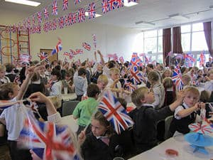 Jubilee celebrations at Spaldwick School