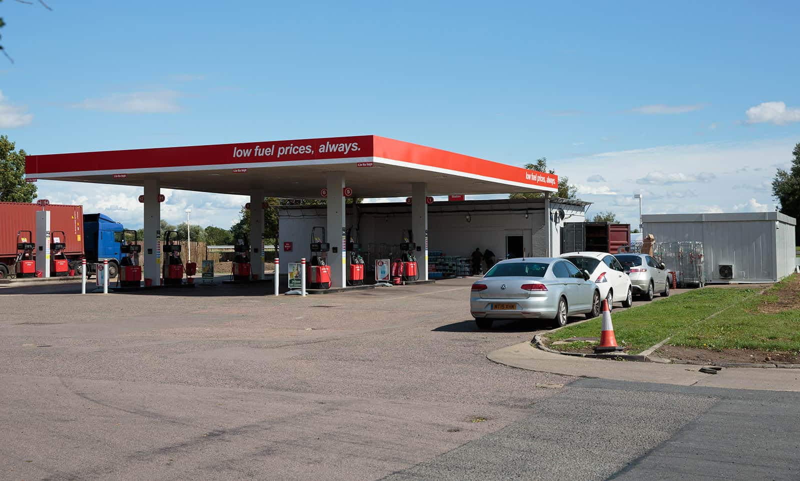 Service station in Spaldwick