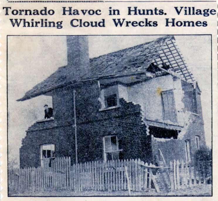 Tornado havoc in Spaldwick