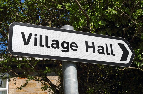 Spaldwick village hall sign