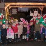 Spaldwick Villagers Flock to See Father Christmas