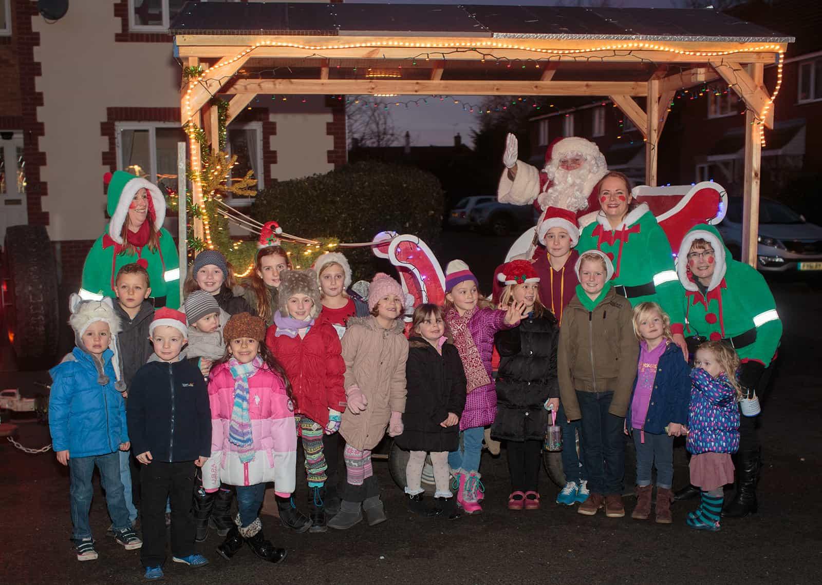 Santa visits Spaldwick